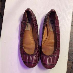 Lanvin Purple Flats Size US 7